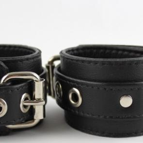 Garment Leather Restraint Cuffs With D-Ring