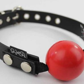 Detachable Rubber Ball Gag With Leather Strap