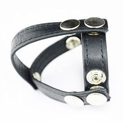 Leather Cockstrap With Splitter
