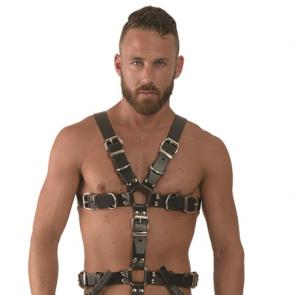 Leather Slave Harness front