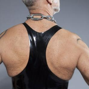 Black Rubber Muscle Shirt