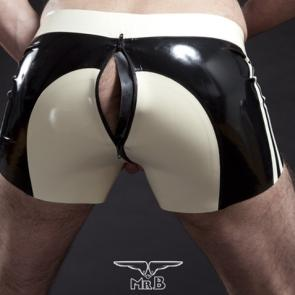 Mister B Rubber Shorts Colour Saddle