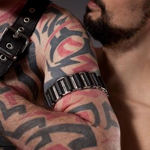 Mister B Linked Leather Armband