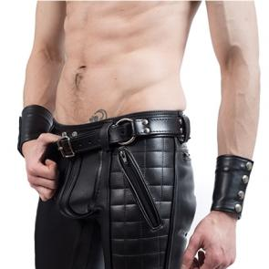 Mister B Leather Handcuff Belt