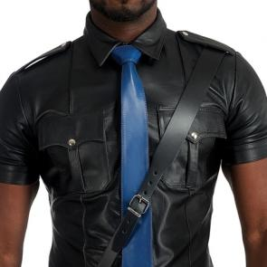 Mister B Leather Tie Stitched