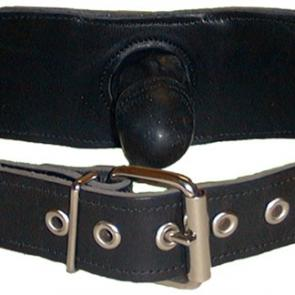 Mister B Leather Strap-On Gag With Dick