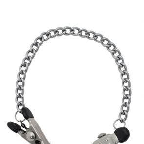 Mister B Mawa Nipple Clamps With Chain XL