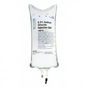 Sodium Chloride for Saline Infusion IV Bag 1000ml
