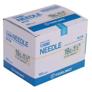 "TERUMO Hypodermic Needles 19G X 1.5"" (CREAM)"