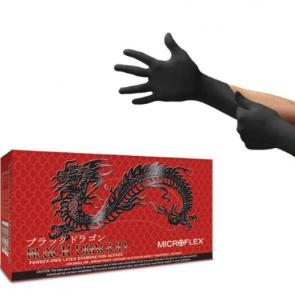 Microflex Black Dragon Latex Powder Free Examination Gloves