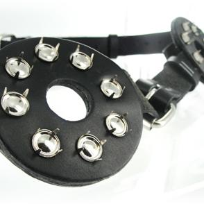 Strict Leather Studded Spiked Breast Binder With Nipple Holes