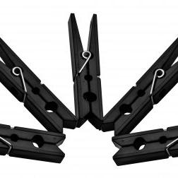 Black Plastic Pegs