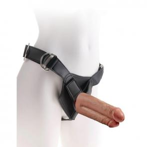 King Cock Strap-On Harness With 7 in. Two Cocks One Hole