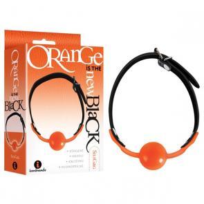 Orange Silicone Ball Gag