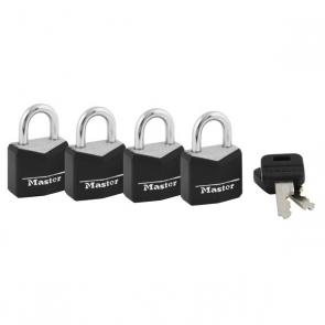 Master Locks - 4 Pack Black