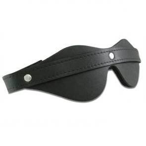 Leather Bondage Blindfold With Velcro
