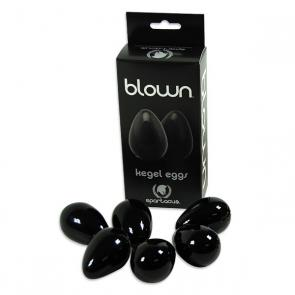 BLOWN Black Glass Kegel Eggs
