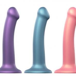 Soft Metallic 7 in. Pegging Dildo Colours